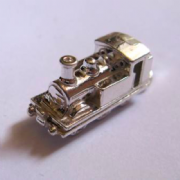 Sterling Silver Large Opening Steam Train Charm